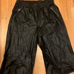 Faux leather cropped pants from eloquii